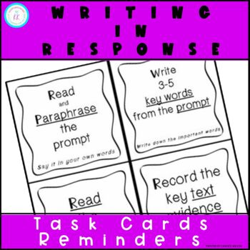 Writing In Response Task Cards