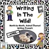 April Centers Writing Prompts for Animal Theme
