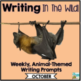 Literacy Centers: October | Animal Picture Writing Prompts