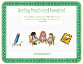 Writing Incentive Punch Cards
