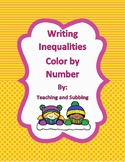 Writing Inequalities Color by Number
