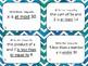 Writing Inequalities Task Cards