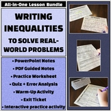 Writing Inequalities to Solve Real-World Word Problems - All-in-One Bundle