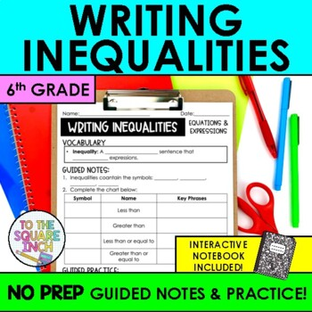 Writing Inequalities Notes