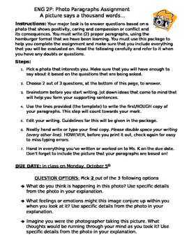 Writing Information Paragraphs - Assignment