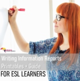 Writing Information Reports {Writing Unit Printables Grades 4-6 / ESL}