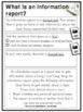 Writing Information Reports {Writing Unit Printables Grade