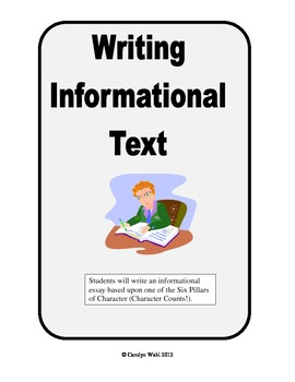 Writing Information Text - A Definition Essay