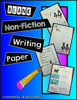 Writing-Informational Blank Writing Paper