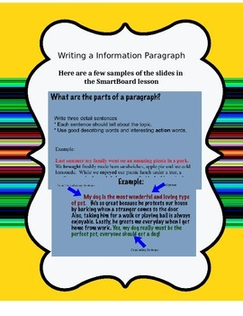 Writing Informational Paragraphs 4.W.2