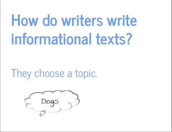 Writing Informational Text