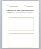 Writing Informational Text Graphic Organizer