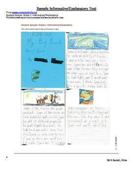 Writing Informative and Explanatory Texts 1st Grade