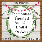 Writing, Inquiry, Collaboration, Organization, & Reading Posters (8X8 Farmhouse)