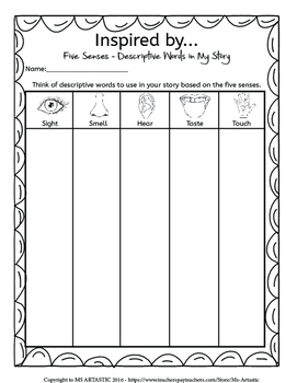 Hawaii Writing Activity, Writing Prompts and Story Starters