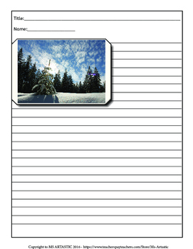 Winter Picture Prompts and Story Starters Writing Activity