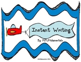 Writing Instant Sentences  Perfect for beginning writing !