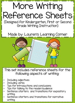 Writing Instruction Resource Printables - K, 1st & 2nd Grade