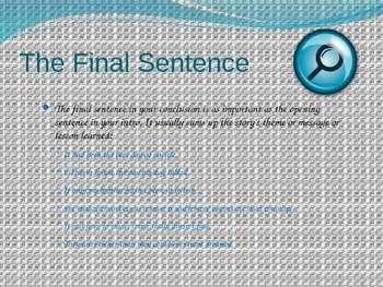 Writing Instructional PowerPoint - Clever Conclusions - Writing the End