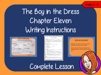 Writing Instructions Complete Lesson  – The Boy in the Dress