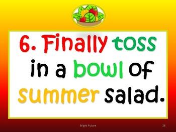Writing Instructions :Recipe for a Sensational Summer!