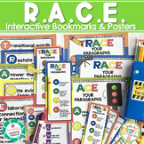 RACE Writing Strategy Posters and Interactive Bookmarks - TRACE, ACE, CUPS