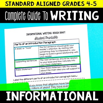 Complete Guide to Teaching Informational Writing Grades 4-5