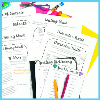 Writing Interactive Notebook: Reference Pages