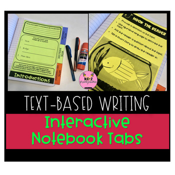 Writing Interactive Notebook Tabs