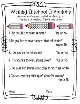 Writing Interest Inventory