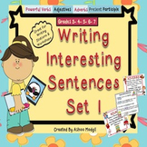 Writing Sentences Set 1