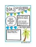 Writing & Interpreting Numerical Expressions Notes Page