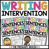 Writing Intervention Activity BUNDLE - Extend, Combine, and Proofread Sentences