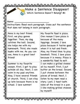 Writing Intervention: Simple Paragraphs- Grades 2-4    Theme: Magic Show