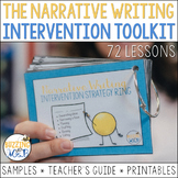 Writing Intervention Toolkit: 72 intervention lessons for narrative writing