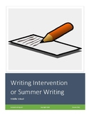 Writing Intervention or Summer Writing for Middle School