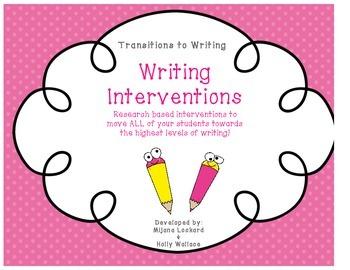 Writing Interventions Class Organization Chart