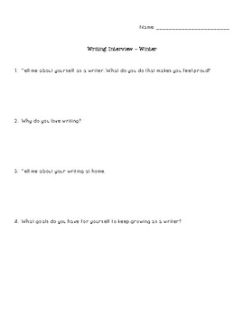 Writing Interview