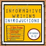 FSA Test Prep! Informative Writing  Introduction Paragraphs Grades 9-12