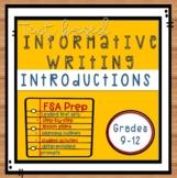 FSA Test Prep! Informative Writing  Introduction Paragraph
