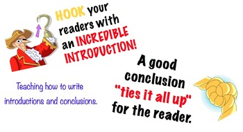 Writing Introductions & Conclusions SMARTboard Lesson with Printable Organizers