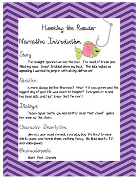 Writing Introductions - Hooking the Reader