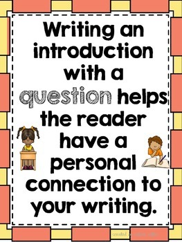 Writing Introductions (Leads): Opinion, Informative, and Narrative Text