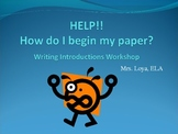 Writing Introductions PowerPoint