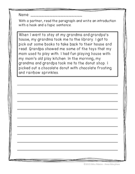 Writing Introductions and Conclusions Minilessons and Activities Bundle