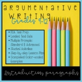 Writing Introductions for FSA Style Argumentative Text-Bas