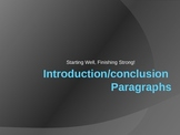 Writing Introductory and Concluding Paragraphs Power Point