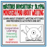 Writing Inventory Glyphs: Monster Theme and Kids
