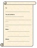 Writing - Invitation Template