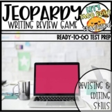 EDITABLE Writing Jeopardy Review Game - Revising & Editing
